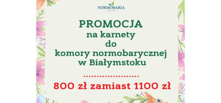normobaria promocja karnety